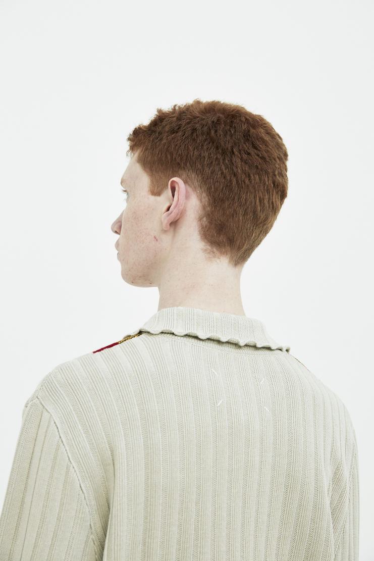 Maison Margiela light beige zip collar jumper zip collar detail Spring Summer 18 SS18 S/S/ 18 MMM Margela Margella Mason Masion Machine-A