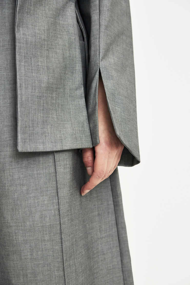 DELADA Grey Flap Blazer Coat S/S 18  ss18 dilada Delada Spring Summer 2018 Machine-A