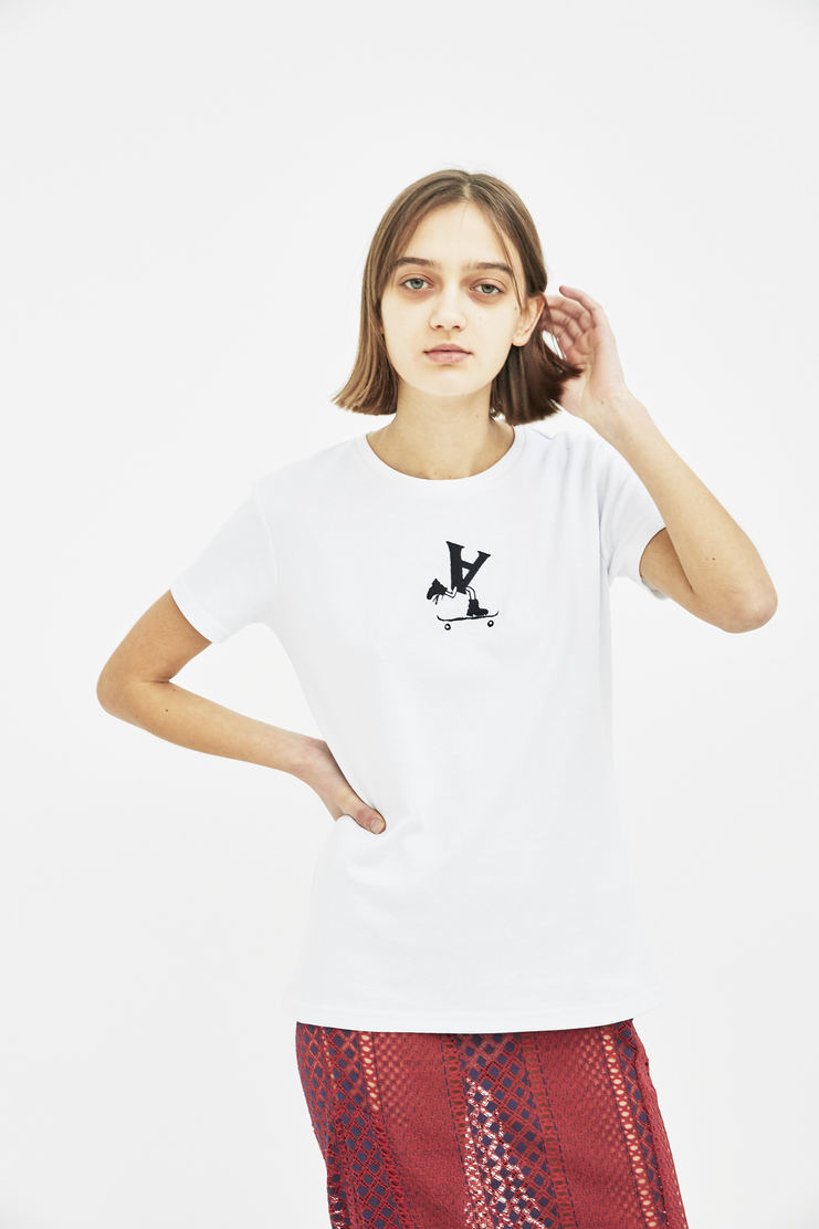 alyx white t shirt top tshirt S/S 18 SS17 Spring Summer 2018 Alyx Machine-A skate tee aleeks alix matthew williams logo cotton