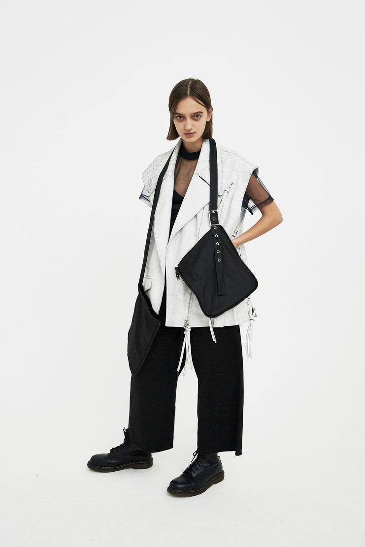 DELADA Black Double Pocket Bag S/S 18 ss18 DELADA dilada Spring Summer 2018 Machine-A