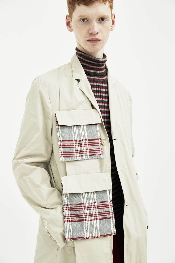 DELADA Beige coat jacket with military pocket strip outerwear S/S 18  ss18 DELADA dilada Delada Spring Summer 2018 Machine-A