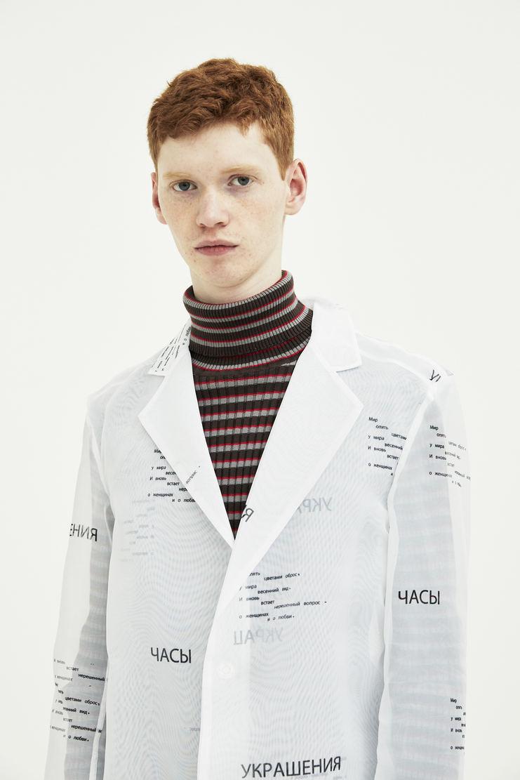 DELADA White Transparent poem coat jacket outerwear S/S 18  ss18 DELADA dilada Delada Spring Summer 2018 Machine-A