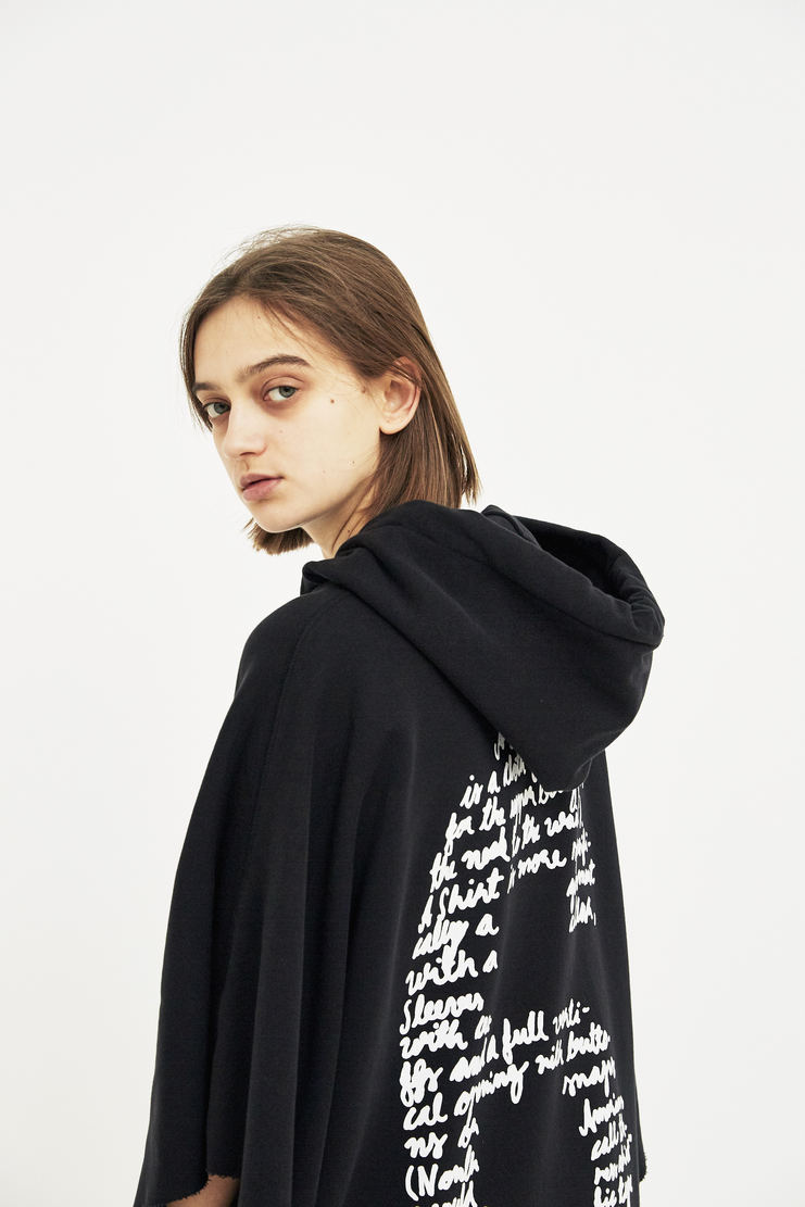 MM6 black hoodie dress S/S 18 SS18 Spring Summer 2018 Maison Margiela Mason Margela Margella Machine-A