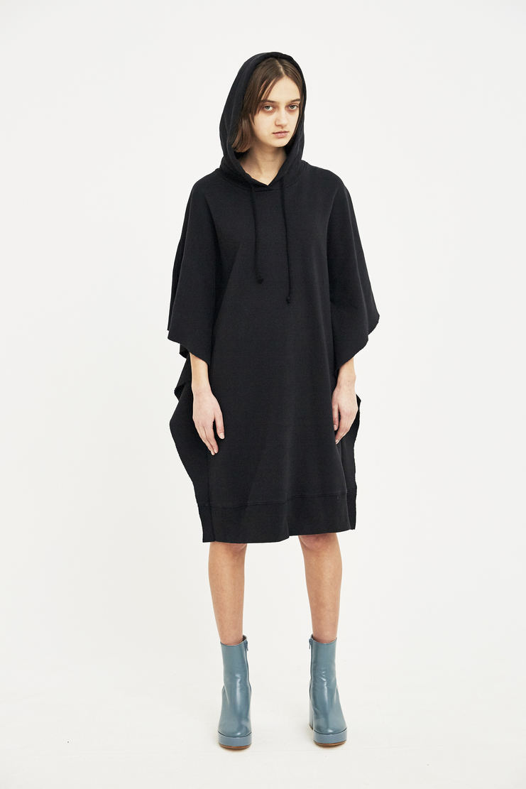 MM6 black oversized dress S/S 18 SS18 Spring Summer 2018 Maison Margiela Mason Margela Margella Machine-A hoodie hood sweater