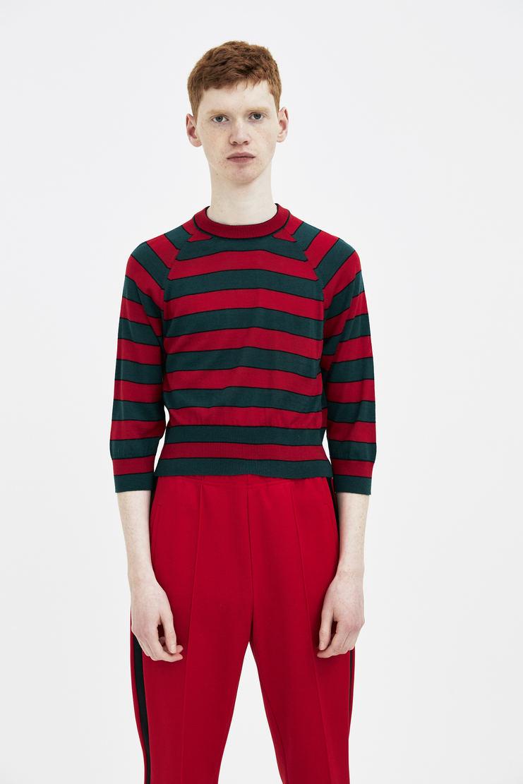 Magliano Striped Crop Knit maliano maljiano ss18 spring summer 2018 knitwear sweater mens green red