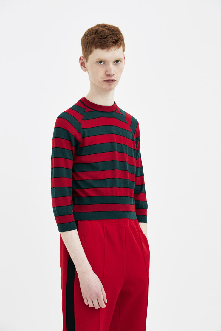 Magliano Striped Crop Knit maliano maljiano ss18 spring summer 2018 knitwear sweater mens turquoise red stripes jumper