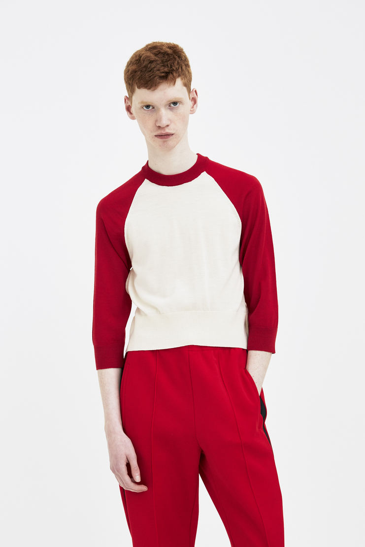Magliano Red Baseball Base ball Crop Knit Knitted Cropped maliano maljano luca ss18 spring summer 2018