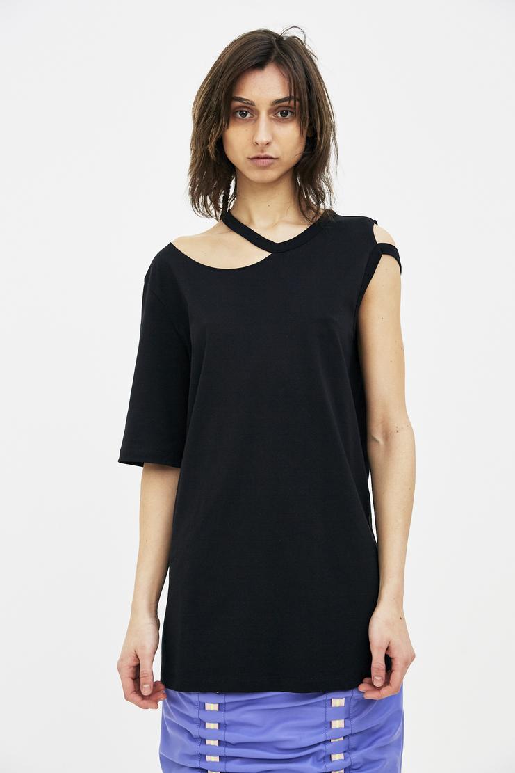 Maison Margiela Black T-shirt Spring Summer 18 SS18 S/S 18 MMM Margela Margella Mason Masion Machine-A