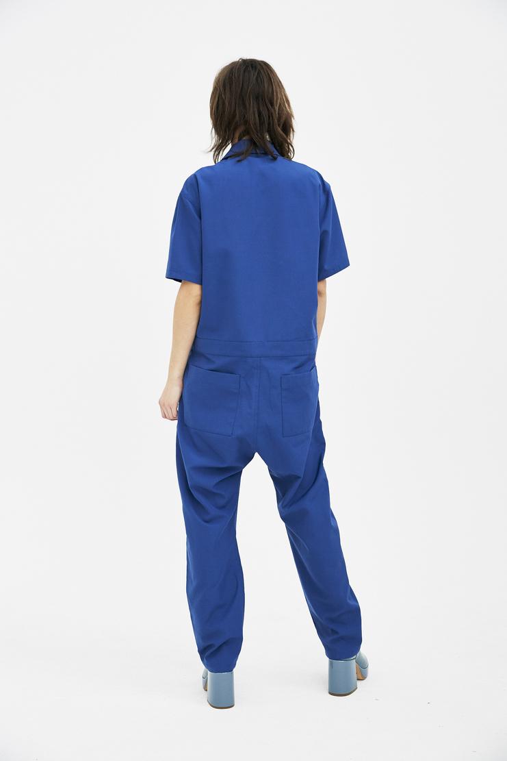 Ambush Woven Shirt Jumpsuit SS18 SS New Arrivals Machine A SHOWstudio womens jumpsuit shirt blue