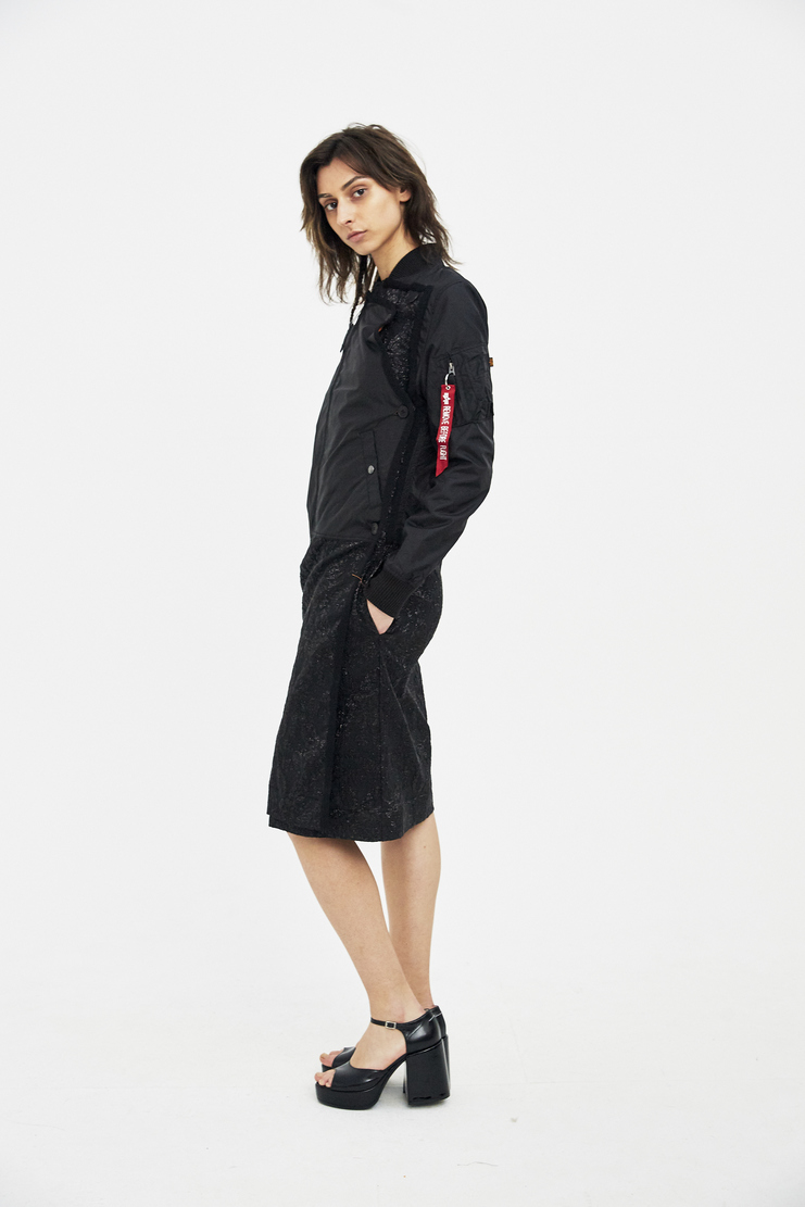 Lutz Huelle Black Bomber Trench SS18 Machine A SHOWstudio womens jackets coats