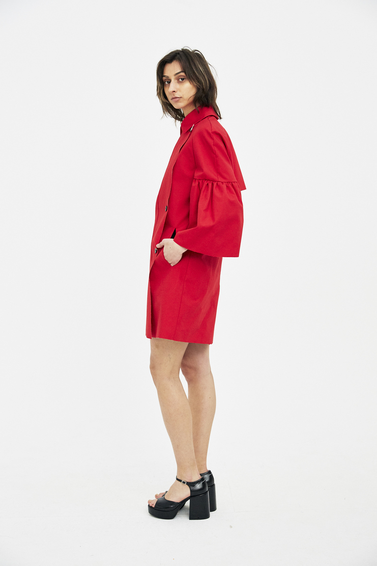Lutz Huelle Red Tulip Trench Coat SS18 Machine A SHOWstudio jackets womens