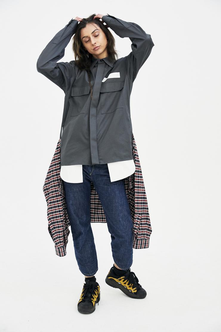 Ambush Woven Shirt Waist Tie Shirt coat jacket top SS18 s/s18 spring summer 2018 Machine A SHOWstudio shirt womens