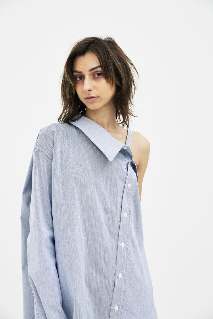 Ambush Blue Stripe SS SS18 s/s 18 Spring Summer 2018 Machine A SHOWstudio shirt womens