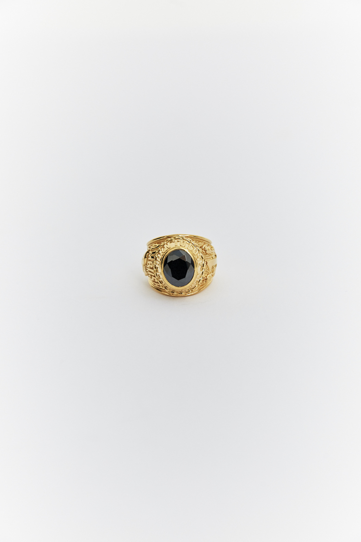 AMBUSH gold black stone class ring rings SS18 s/s 18 spring summer 2018 Accessories accessory Machine A SHOWstudio