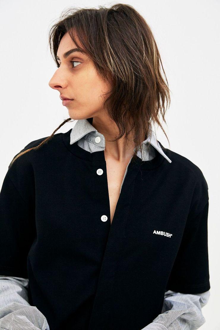 AMBUSH black layered Shirt top SS SS18 s/s 18 Spring Summer 2018 Machine A SHOWstudio shirt womens