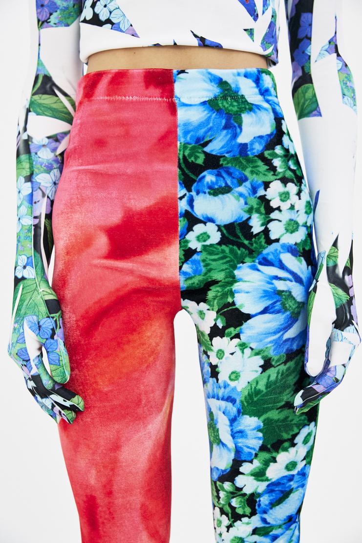 Richard Quinn Velour Toe Tights ss18 spring summer 18 liberty machine a csm lfw floral
