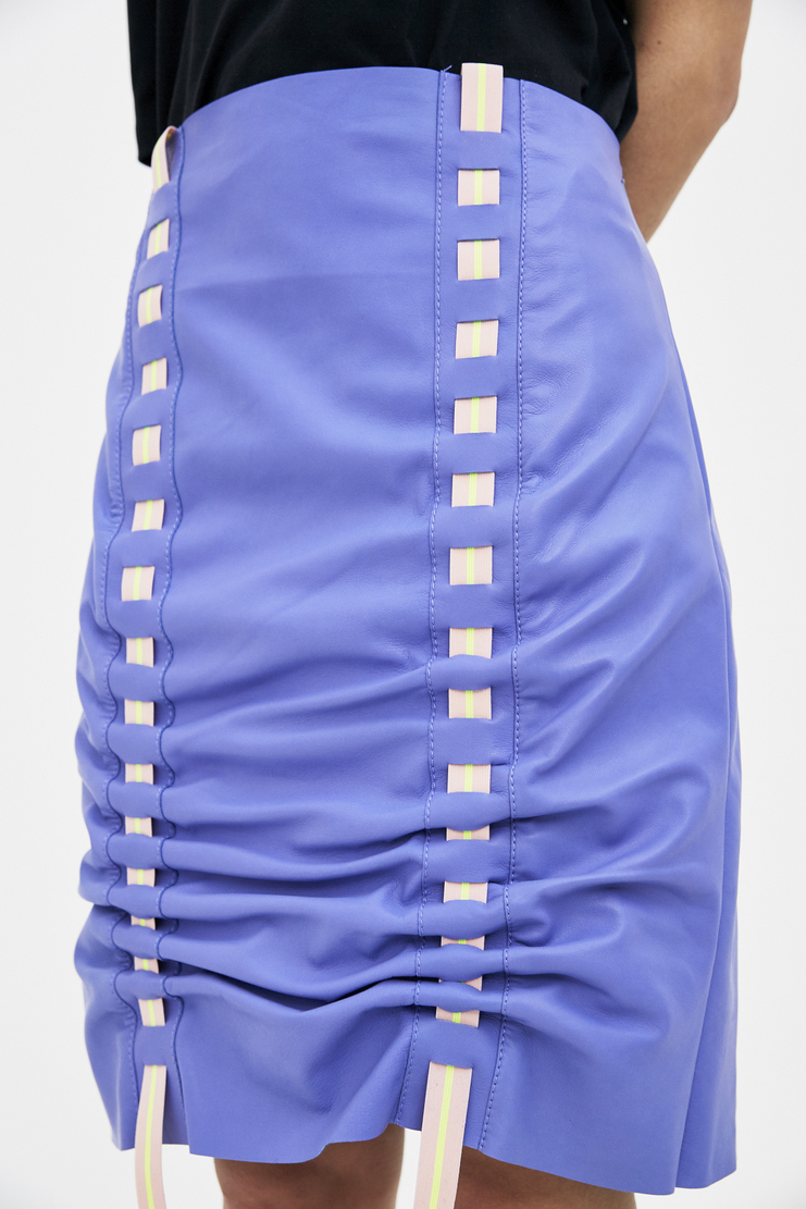 Martina Spetlova Purple Reflective Skirt Pulled SS18 s/s 18 spring summer Machine A SHOWstudio skirts new arrivals womens skirt