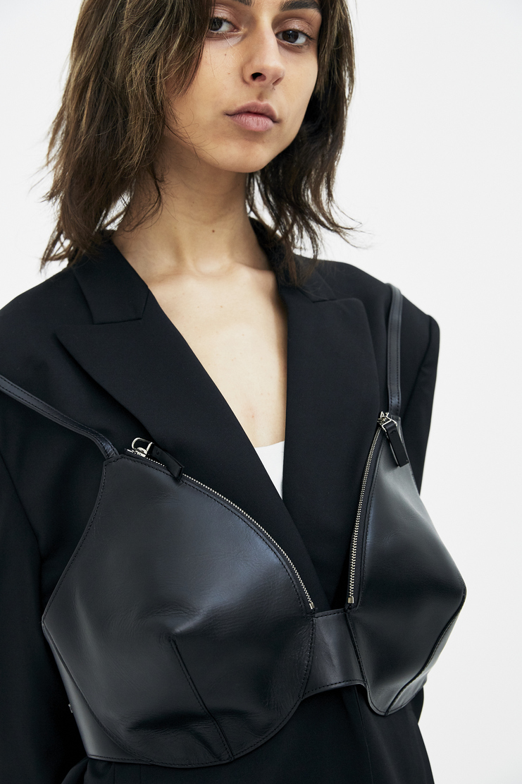 Helmut Lang Bra Bag bra brassiere chest purse harness shane oliver hba hood by air ss18 spring summer 2018 black
