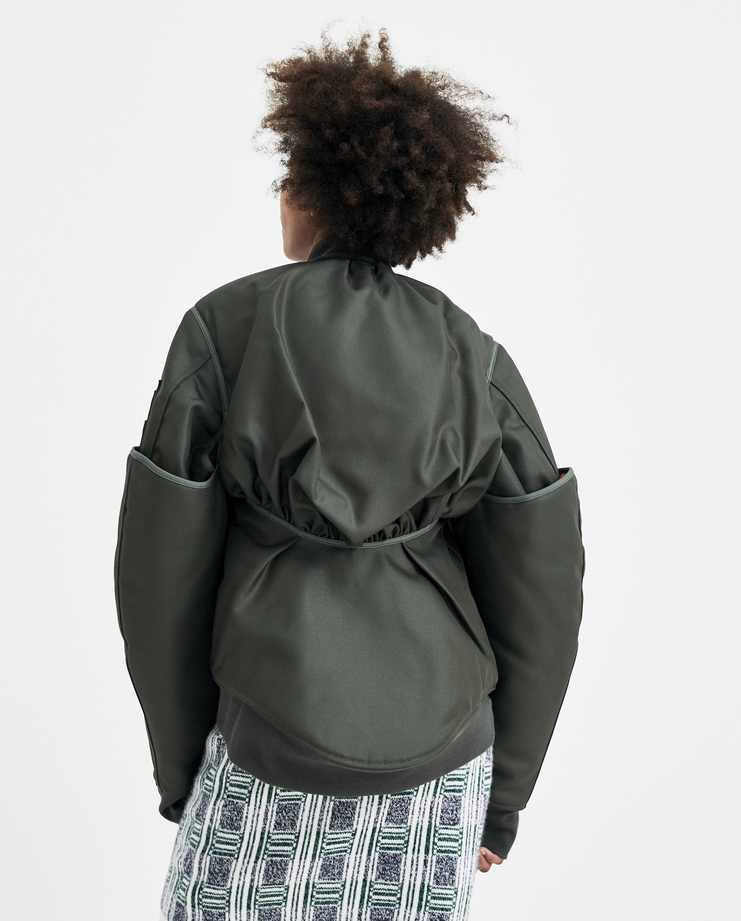 Helmut Lang by Shayne Oliver Four Sleeved Bomber Jacket ss18 spring summer 2018 green olive coat