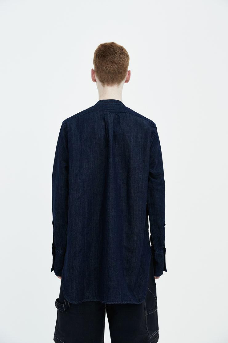 JW Anderson Applique Heart Dark Denim Shirt ss18 spring summer 18 Machine A