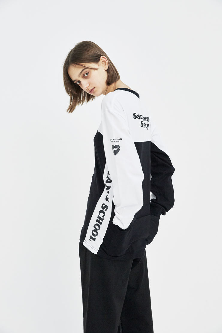 Satan's School for Girls Black and White Cycling Jersey Tee ss18 spring summer 18 tee white black monochrome