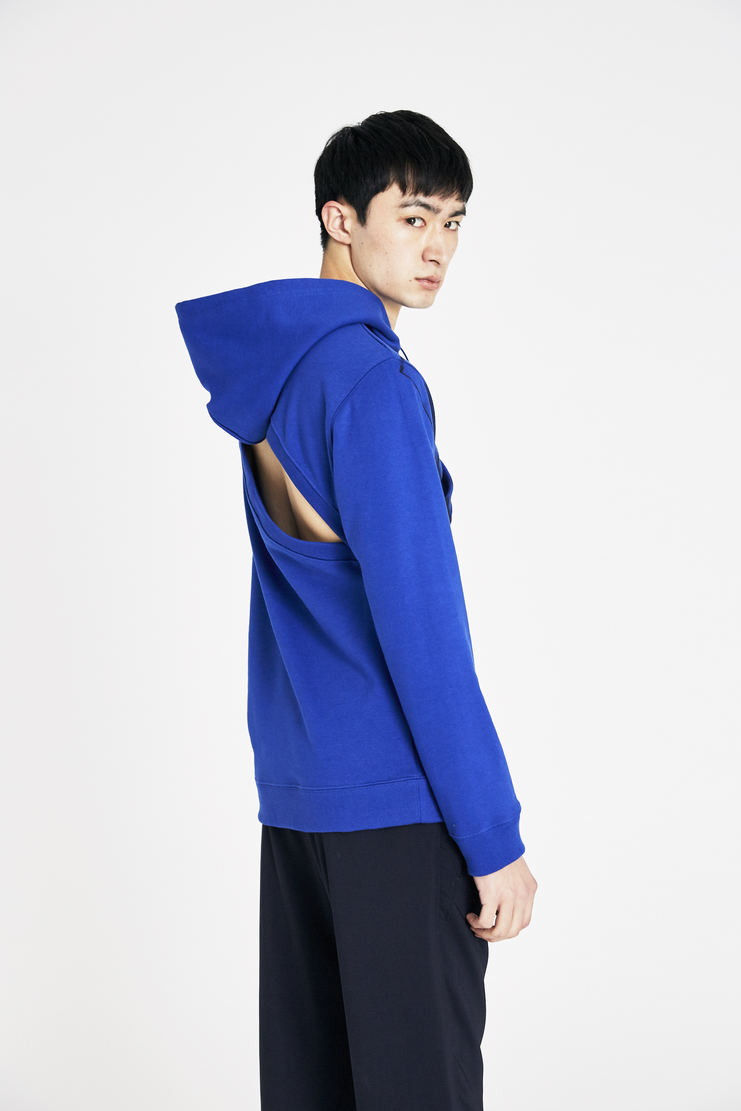 Raf Simons Blue Two Piece Hoodie with Print ss18 spring summer 18 machine a