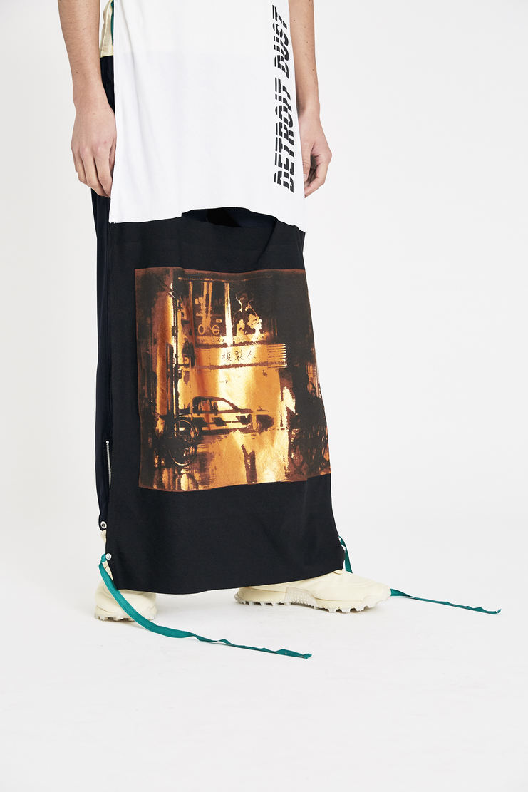 Raf Simons White and Yellow Patched Jersey Top ss18 spring summer 18 machine a