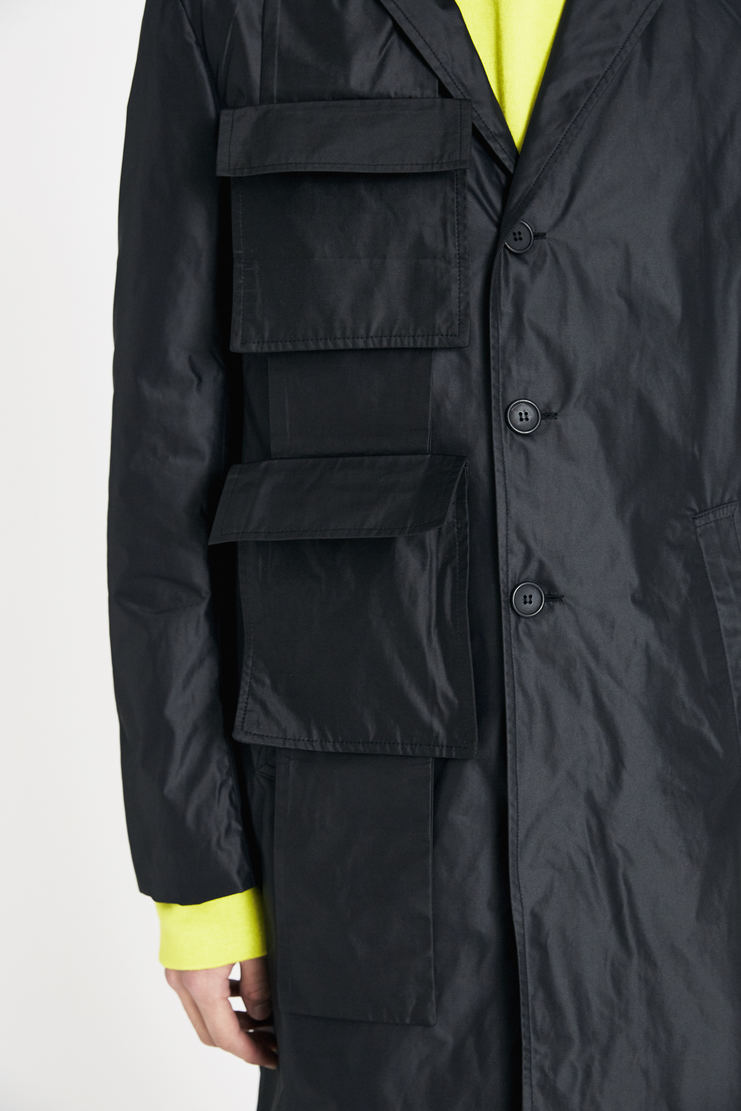 DELADA Black Solid Coat SS18 s/s 18 spring summer Machine A SHOWstudio new arrivals coats
