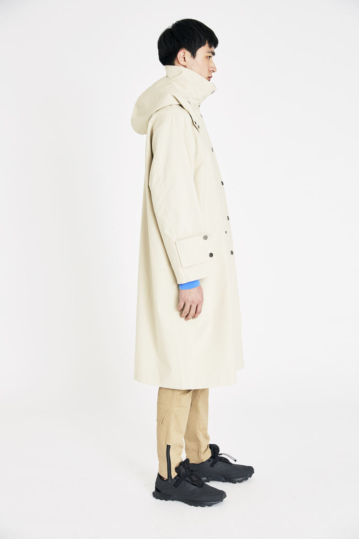 DELADA Beige Hooded Removable Coat SS18 s/s 18 spring summer Machine A SHOWstudio new arrivals coats