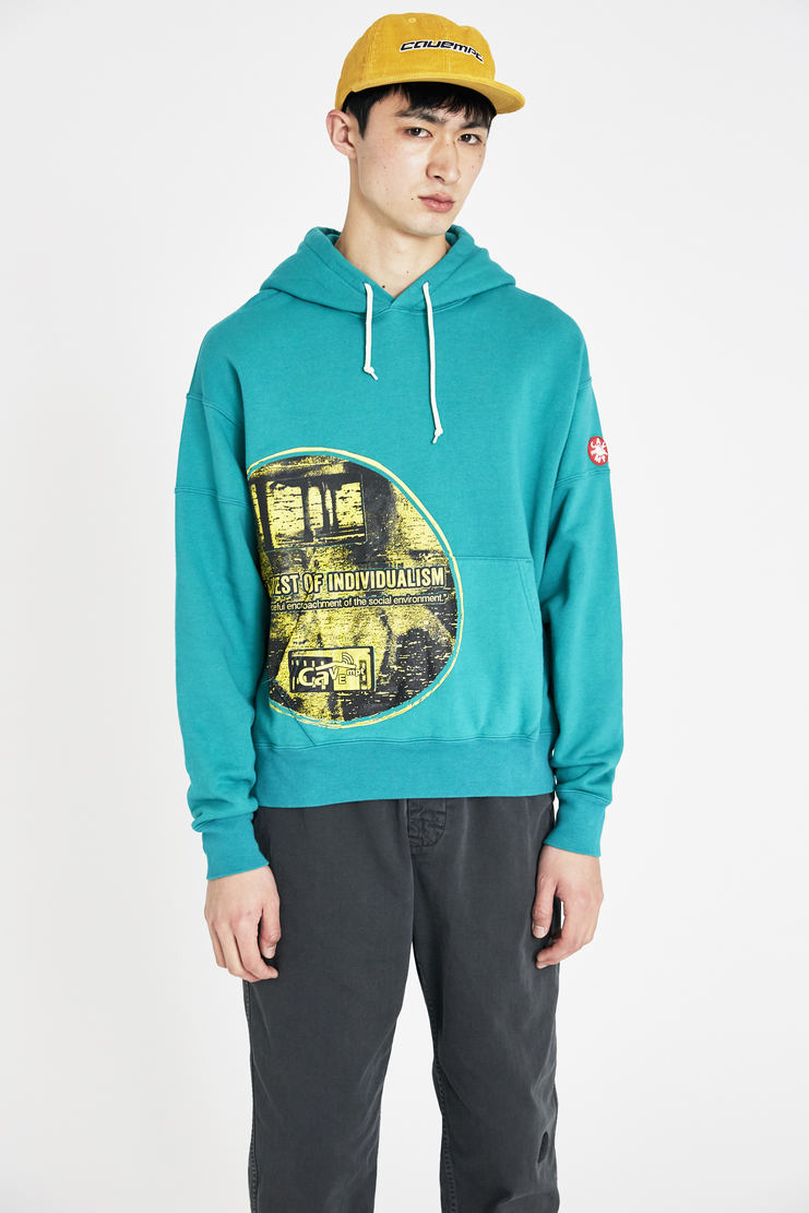 Cav Empt green individualism heavy hoody jumper hoodie ss18 S/S 18 Spring Summer 2018 csv cavempt cave empt Machine-A