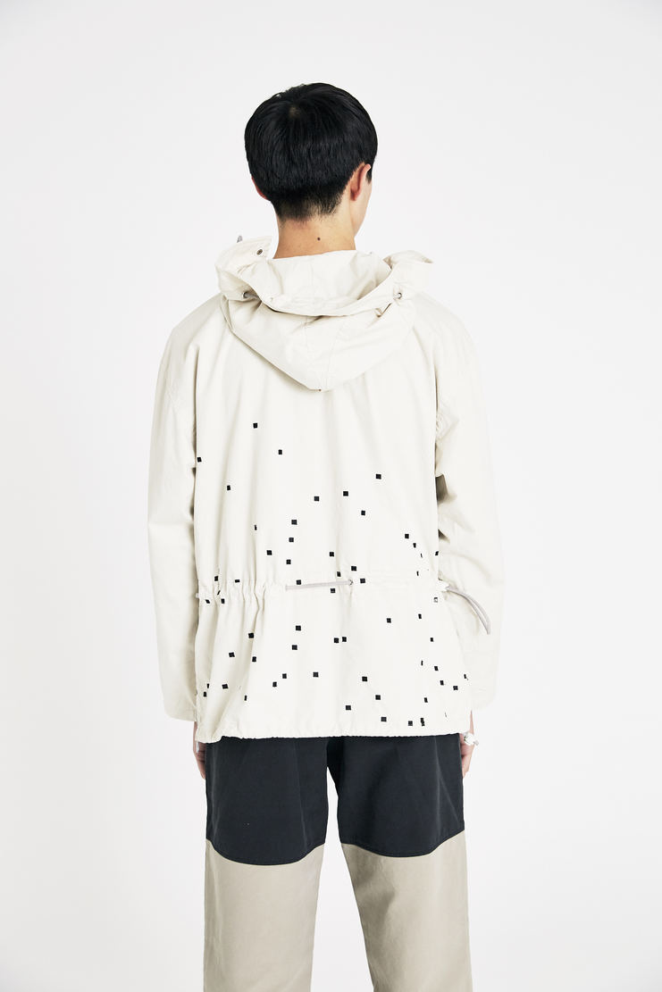 Cav Empt cream pixel embroidery pullover hoodie jumper S/S 18 Spring Summer 2018 SS18 cavempt cave empt Machine-A