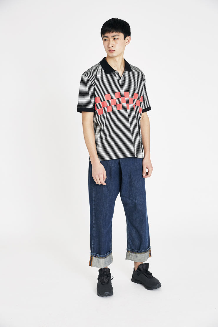 Tim Coppens Black and Grey Silent Motive Polo Polo SS18 s/s 18 spring summer Machine A SHOWstudio tim coppen timcoppens new arrivals acid grey MKNS18TC131