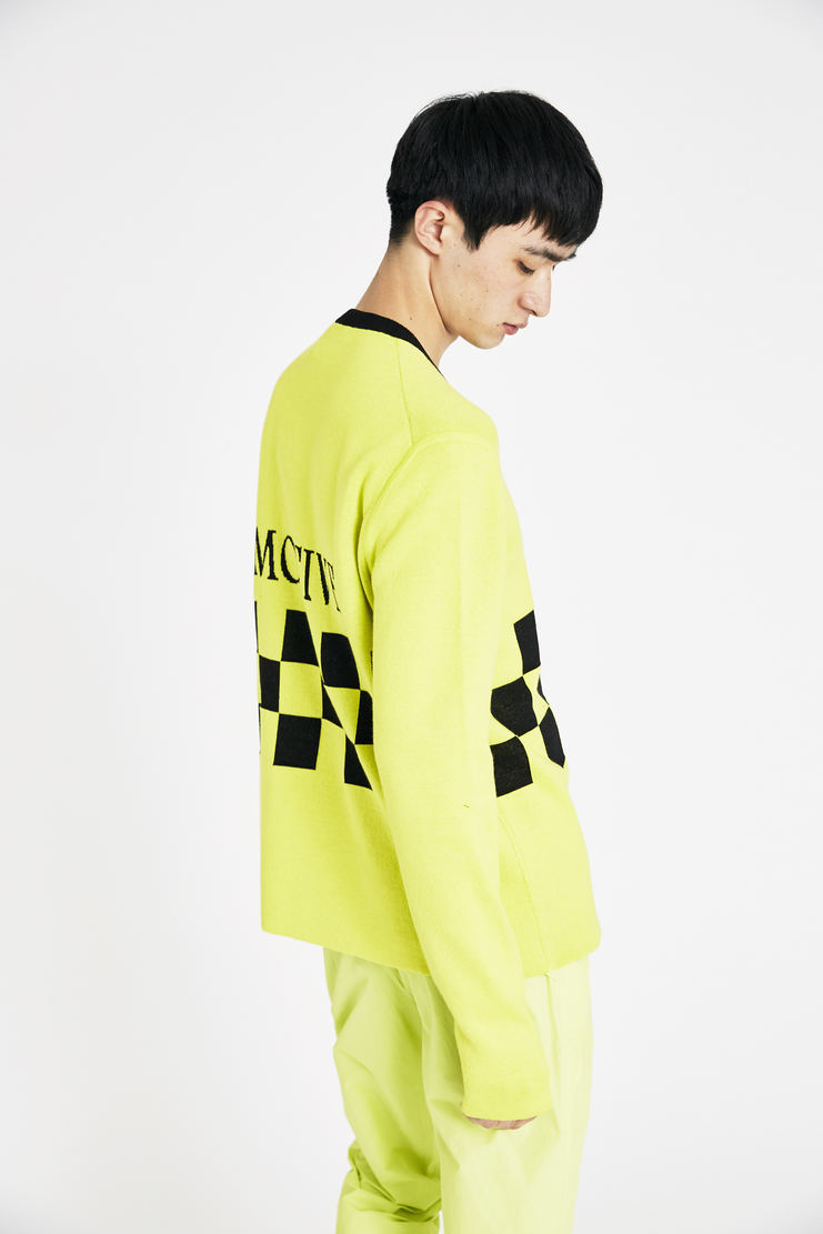 Tim Coppens Yellow Silent Motive Sweater SS18 s/s 18 spring summer Machine A SHOWstudio tim coppen timcoppens new arrivals MSWS18TC021