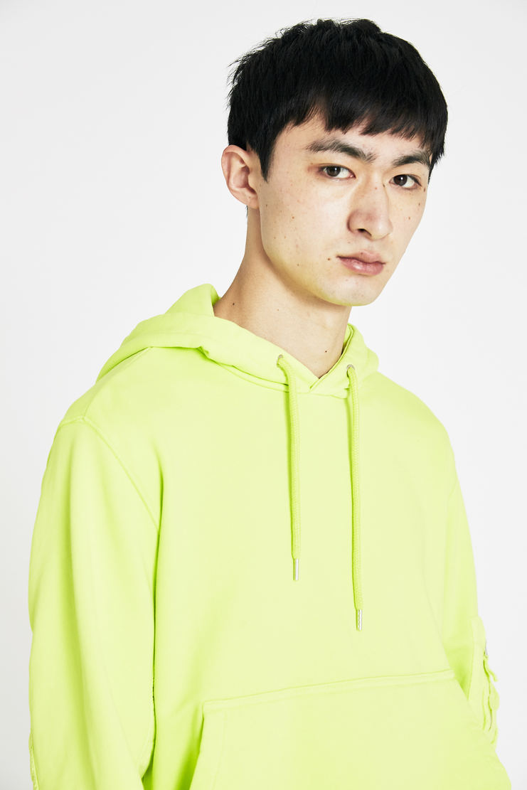 Tim Coppens Acid Yellow Marking Equipment Hoodie SS18 s/s 18 spring summer Machine A SHOWstudio hoodies tim coppen timcoppens new arrivals MKNS18TC151