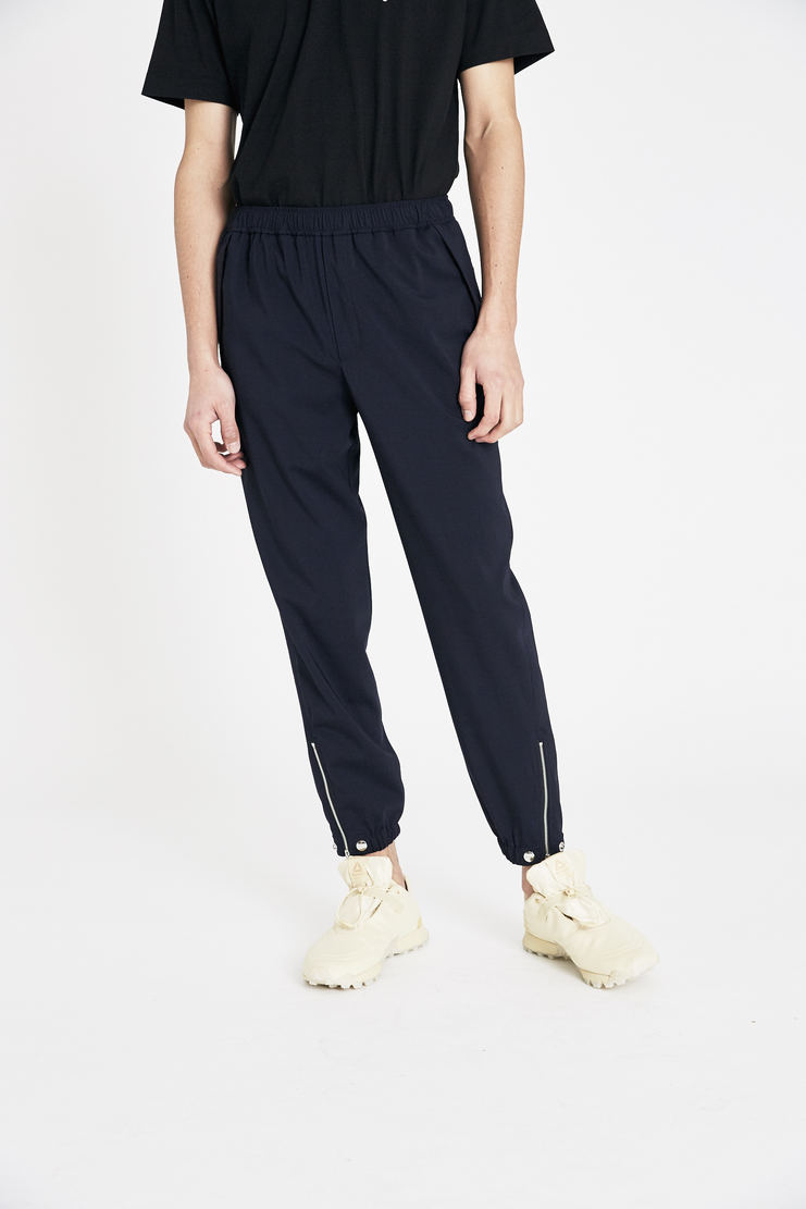 Tim Coppens Navy Pieced Joggers SS18 s/s 18 spring summer Machine A SHOWstudio tim coppen timcoppens new arrivals trousers MTRS18TC021