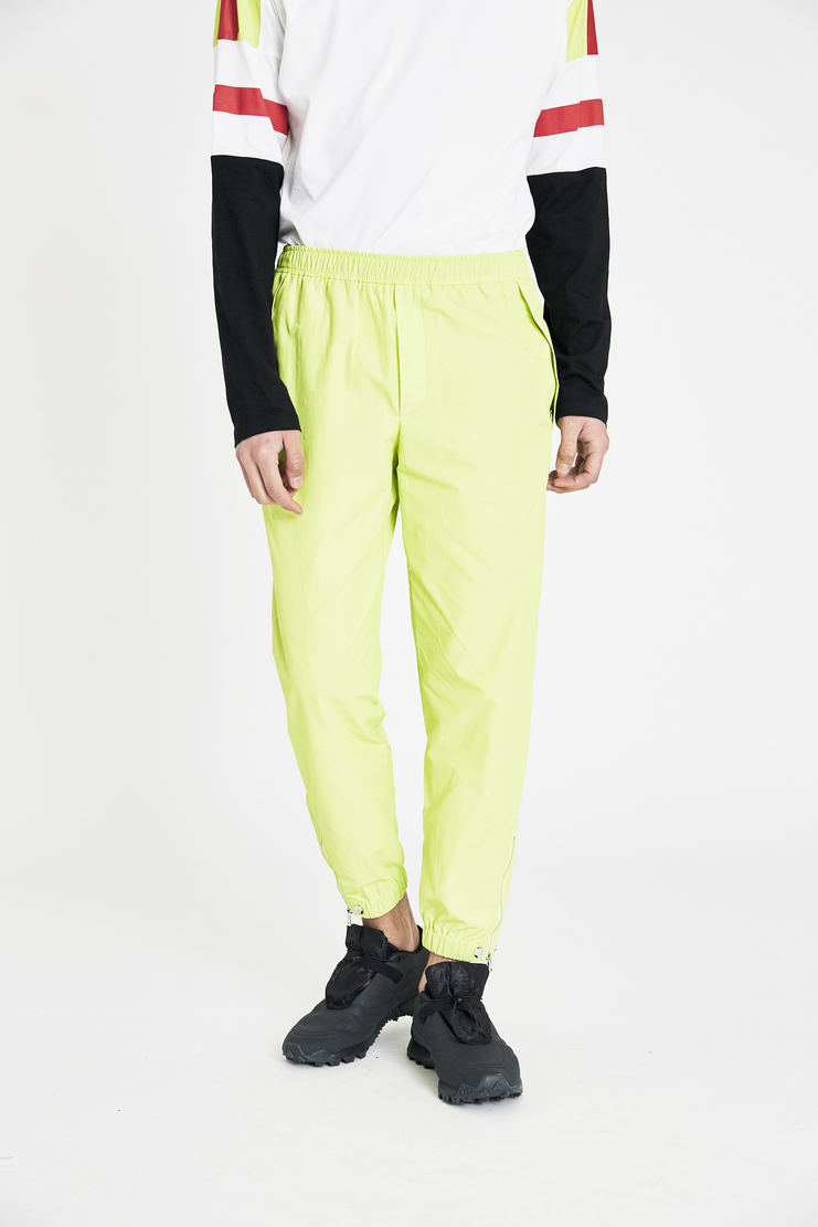 Tim Coppens Acid Yellow Pieced Joggers SS18 s/s 18 spring summer Machine A SHOWstudio tim coppen timcoppens new arrivals trousers 1000000012017