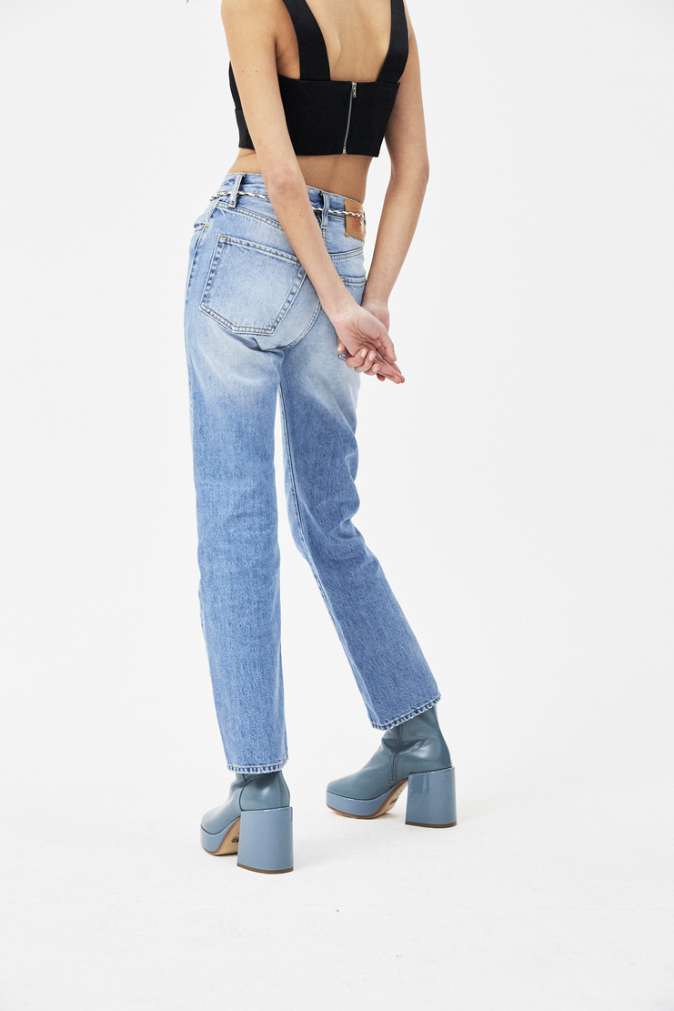 ARIES Lilly Selvedge 90s Pale Jeans Machine A SHOWstudio new arrivals light jeans womens S/S 18 spring summer pre collection SOAR30001