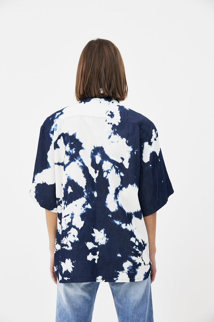 ARIES Bleached Denim Shirt new arrivals pre collection S/S 18 spring summer Machine A SHOWstudio womens shirts SOAR40101