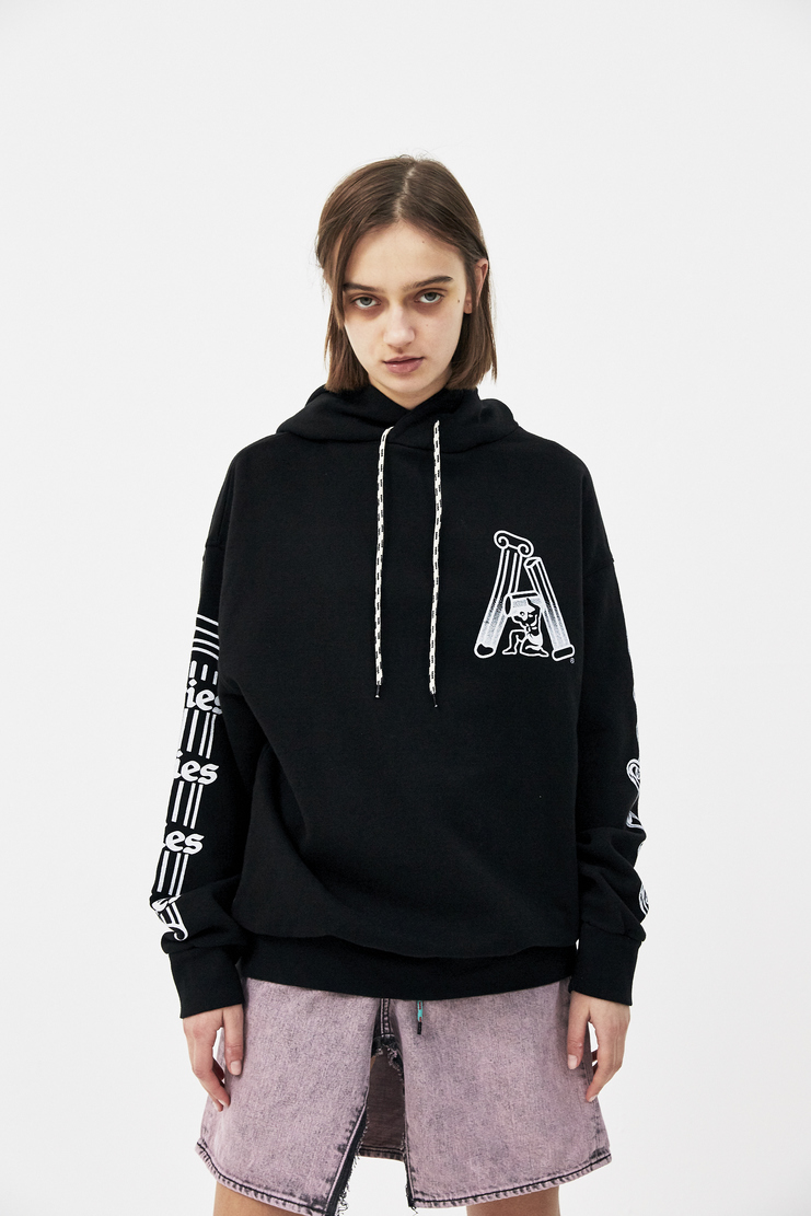 ARIES Black Samson Hoodie SOAR20303 new arrivals womens hoodies S/S 18 spring summer pre collection Machine A SHOWstudio