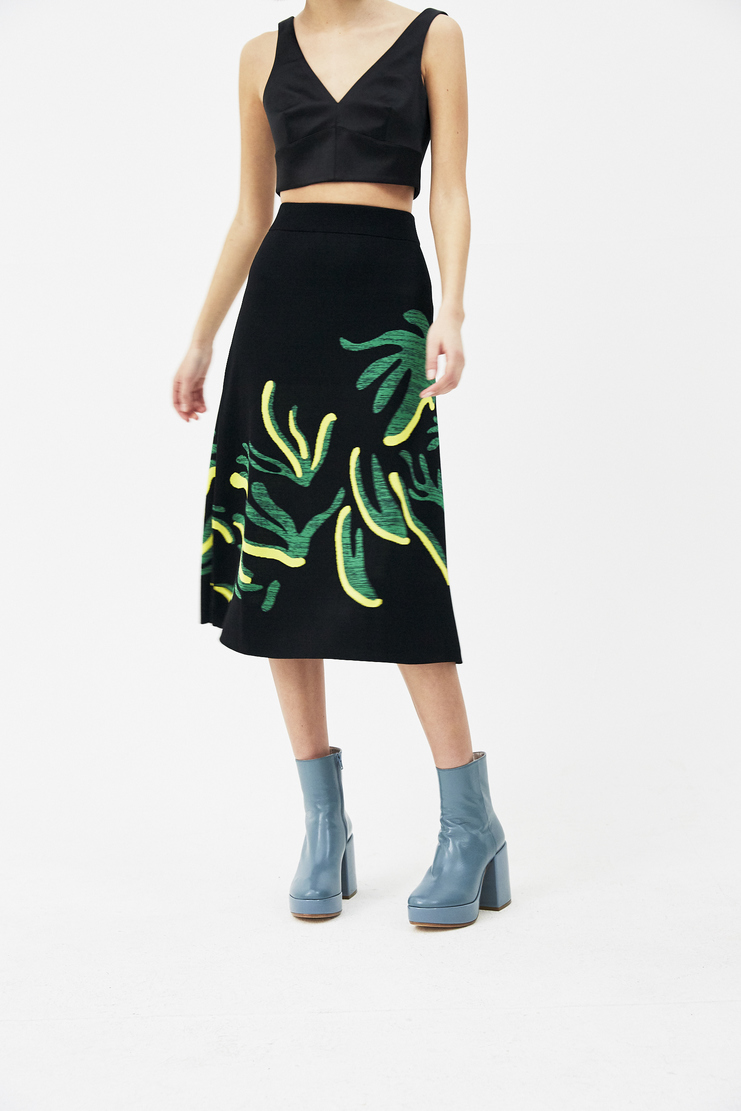 I AM CHEN  printed long skirt s/s 18 spring summer 2018 Machine A Showstudio CZ181003 New arrivals