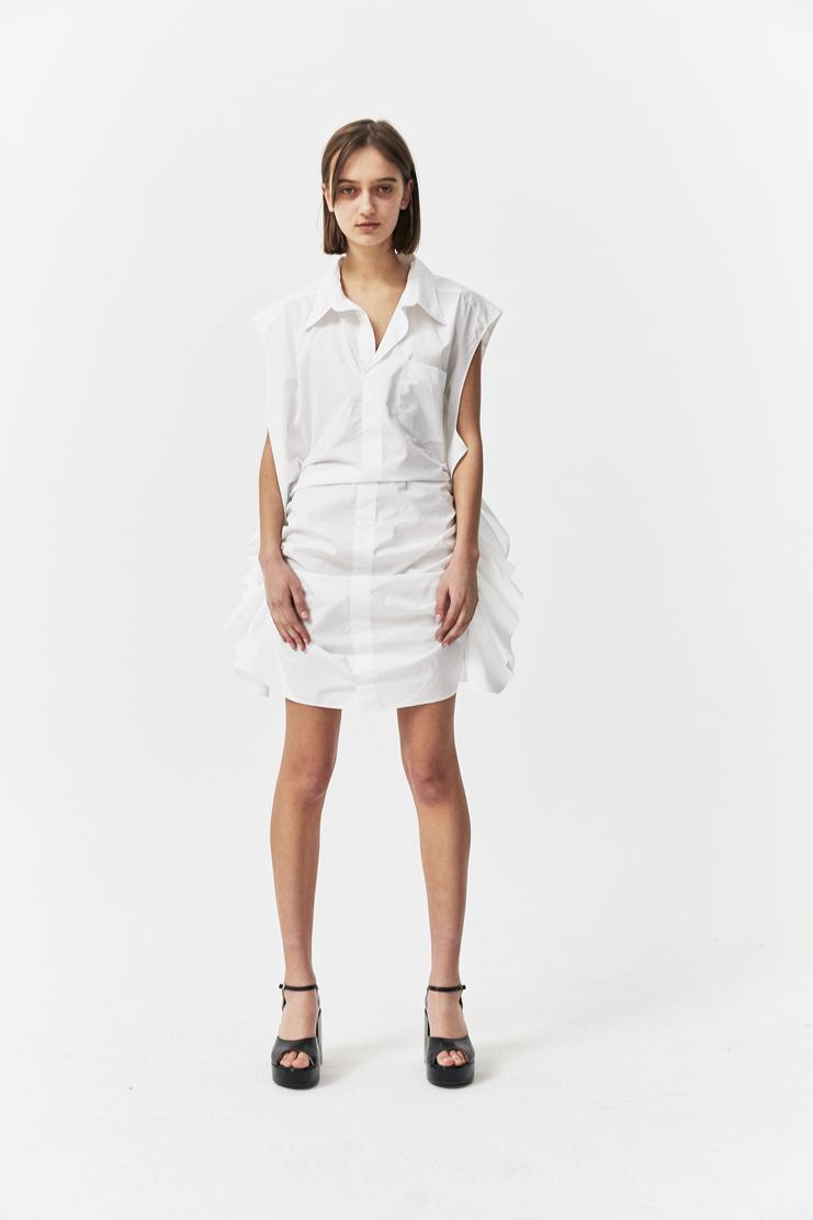Paula Knorr White Shirt Dress s/s 18 spring summer 18 machine a Showstudio new arrivals womens shirts dresses PK-SS18-SD-S