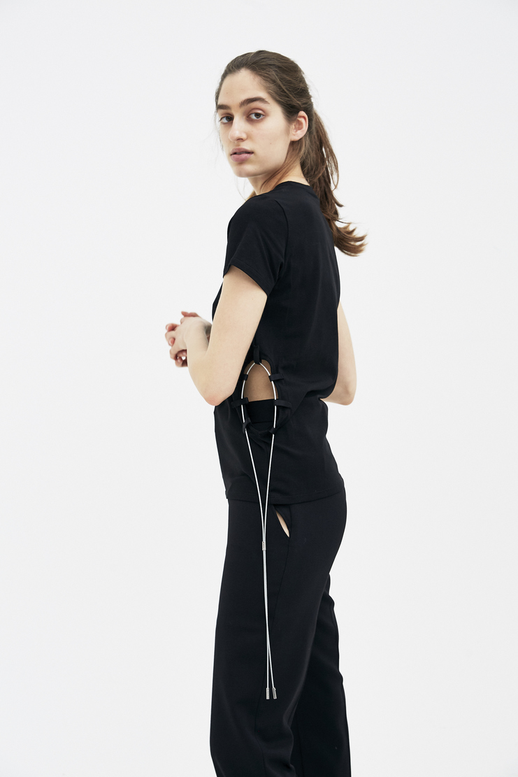 ALYX Black Jersey T-shirt t-shirts t new arrivals SS18 s/s 18 spring summer Machine A SHOWstudio womens top AAWTS0010