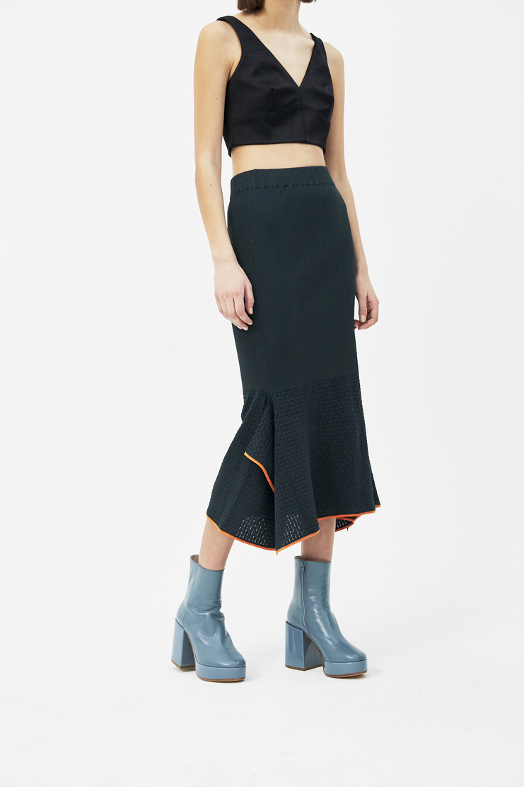 I Am Chen Green Fishtail Skirt s/s 18 Spring summer 2018 Machine A Show studio New arrivals CZK181005