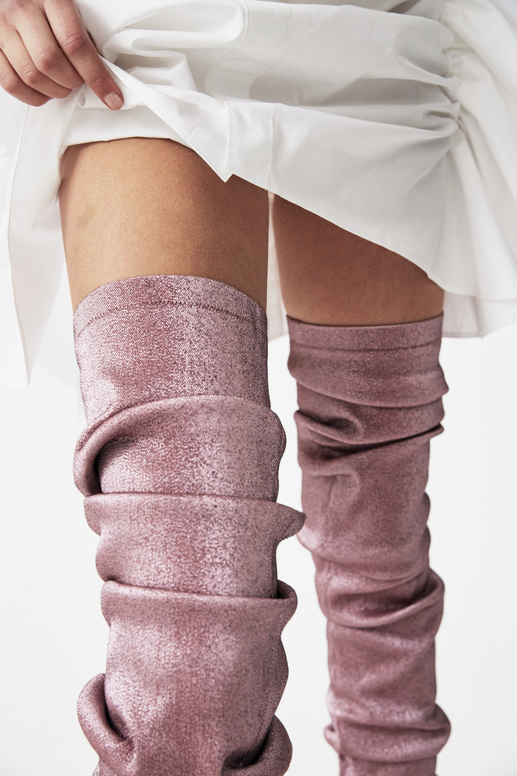 Paula Knorr Knor Pink Ruffled Legwarmers s/s18 spring summer 18 machine a new arrivals PK-SS18-RL