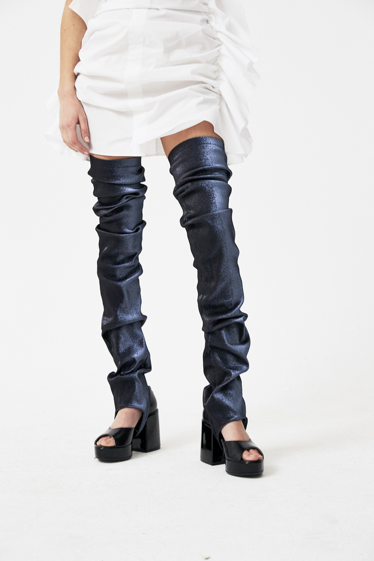 Paula Knorr Knor Blue Ruffled Legwarmers s/s18 spring summer 18 machine a PK-SS18-RL new arrivals