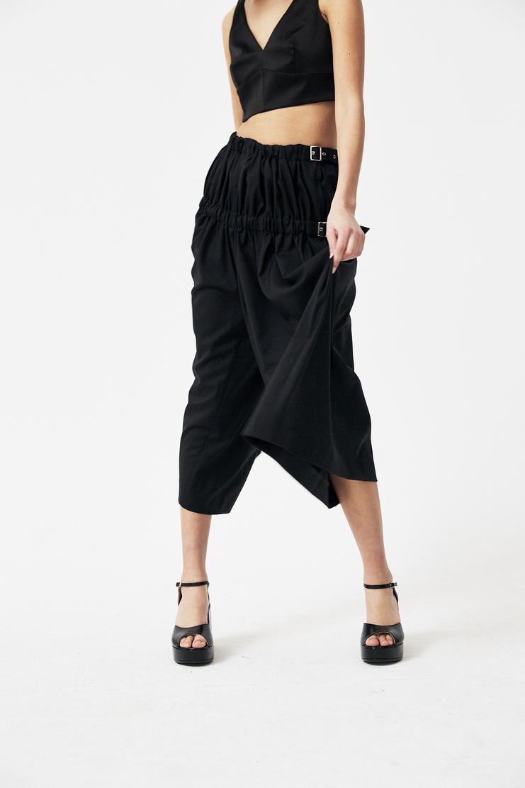 Noir Kei Ninomiya Black Trousers new arrivals spring summer S/S 18 Machine A SHOWstudio womens 3A-P002-S18