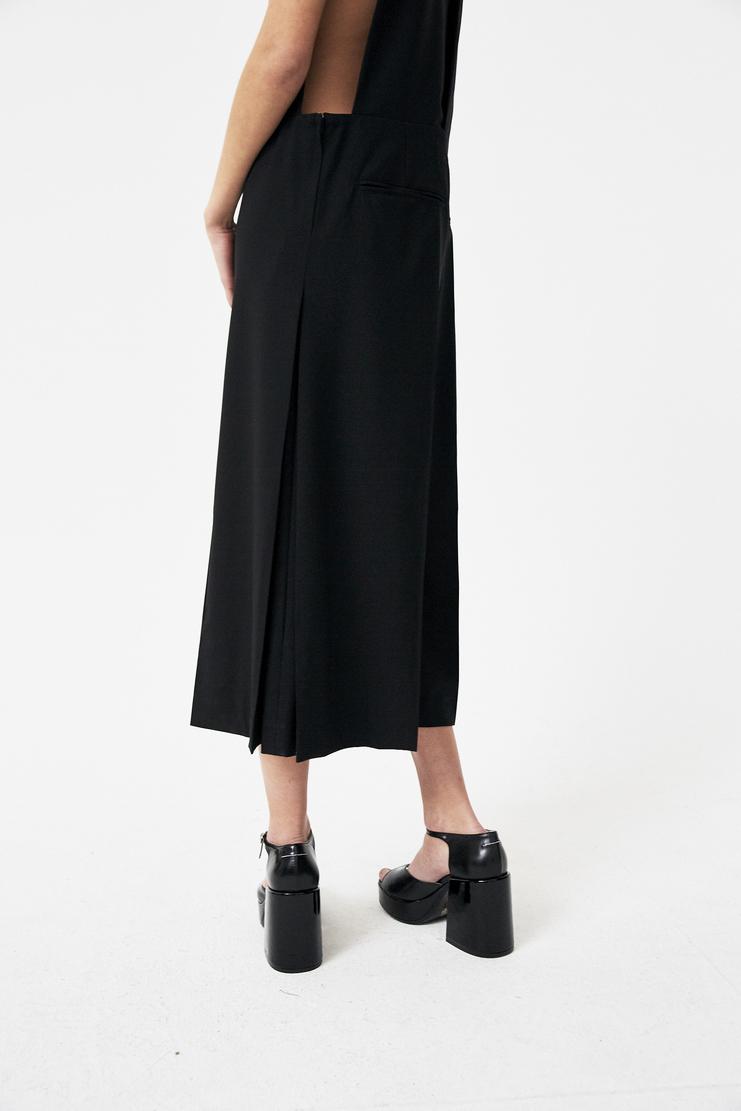 Noir Kei Ninomiya Black Pinafore Trousers new arrivals spring summer S/S 18 Machine A SHOWstudio womens 3A-U001-S18