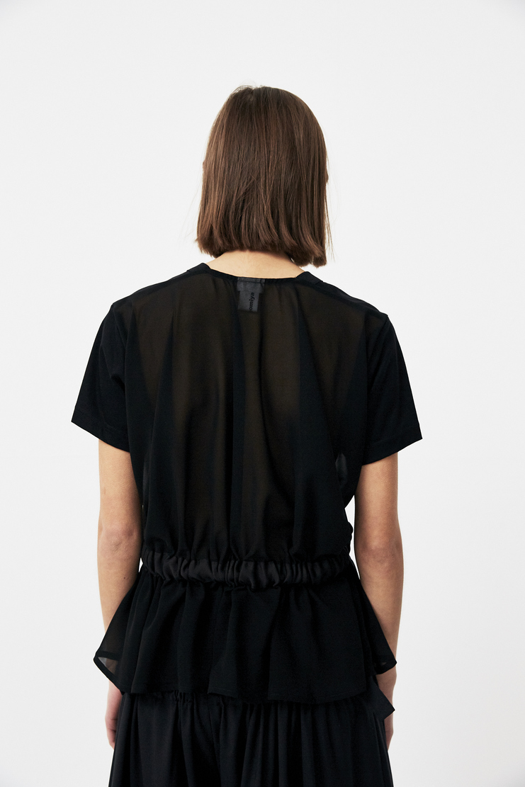 Noir Kei Ninomiya Black Sweater new arrivals sweaters spring summer S/S 18 collection Machine A SHOWstudio 3A-T003-S18