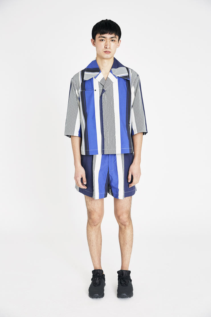 Ximon Lee Blue Striped Summer Shirt S/S 18 spring summer collection new arrivals Machine A SHOWstudio T001_MLP mens shirt shirts
