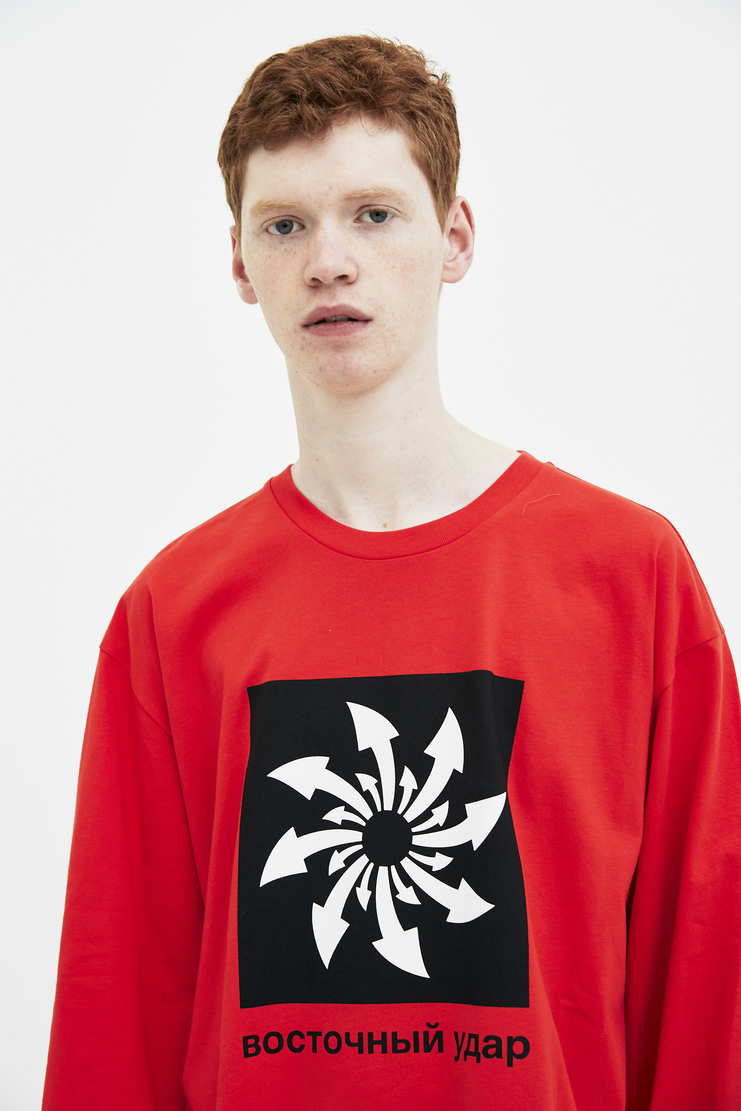 Gosha Rubchinskiy Red Arrows Oversized T-shirt spring summer S/S 18 collection new arrivals Machine A SHOWstudio G012T014 mens tshirts tshirt